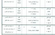 جدول اختبارات الفصل الدراسى الاول2017 / 2018 الدراسات العليا – الماجيستير